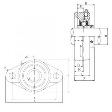 60 mm x 160 mm x 71 mm  ISO UCFL312 bearing units