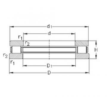 NKE 81238-MB thrust roller bearings