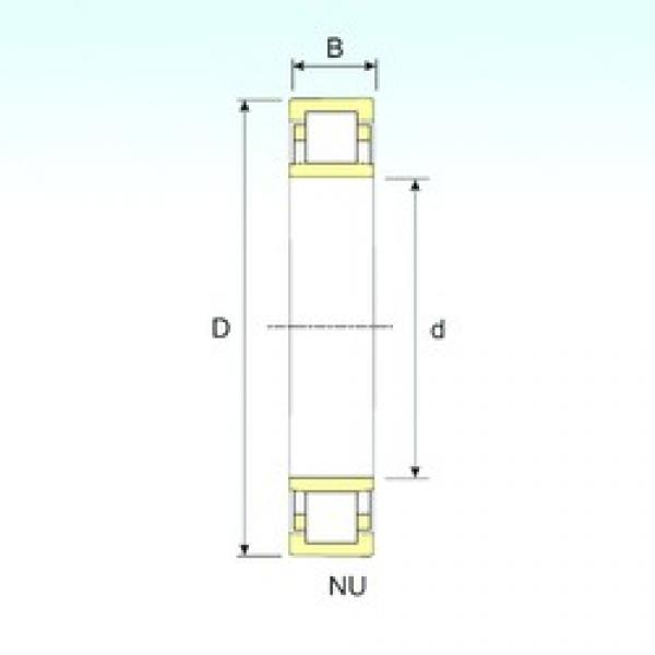 70 mm x 150 mm x 51 mm  ISB NU 2314 cylindrical roller bearings #3 image